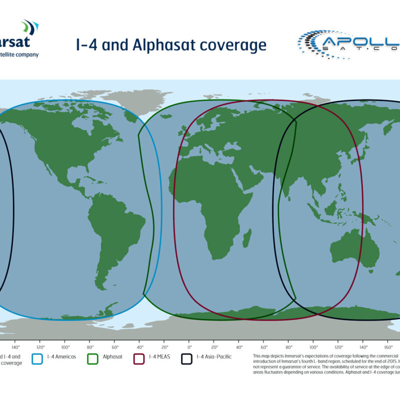Apollo Inmarsat Alphasat and I-4- coverage