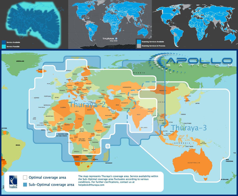 Apollo Thuraya Coverage Map