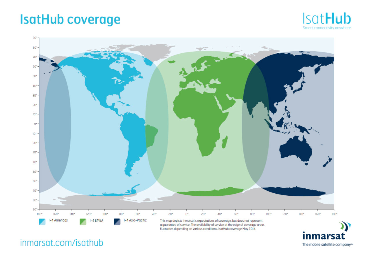 Wideye iSavi - IsatHub Coverage Map
