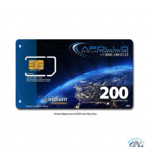 Iridium 200 Minute 6 Month Prepaid SIM