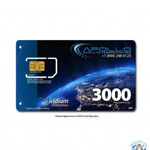 Iridium 3000 Minute 2 Year Prepaid SIM
