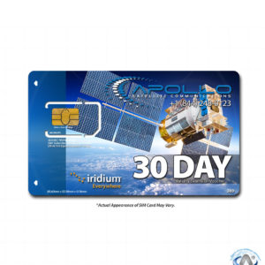Iridium 30 Day Prepaid Validity Extension