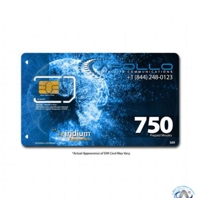 Iridium 750 Minute 6 Month Prepaid SIM