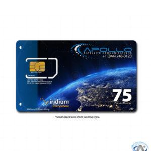 Iridium 75 Minute 30 Day Prepaid SIM