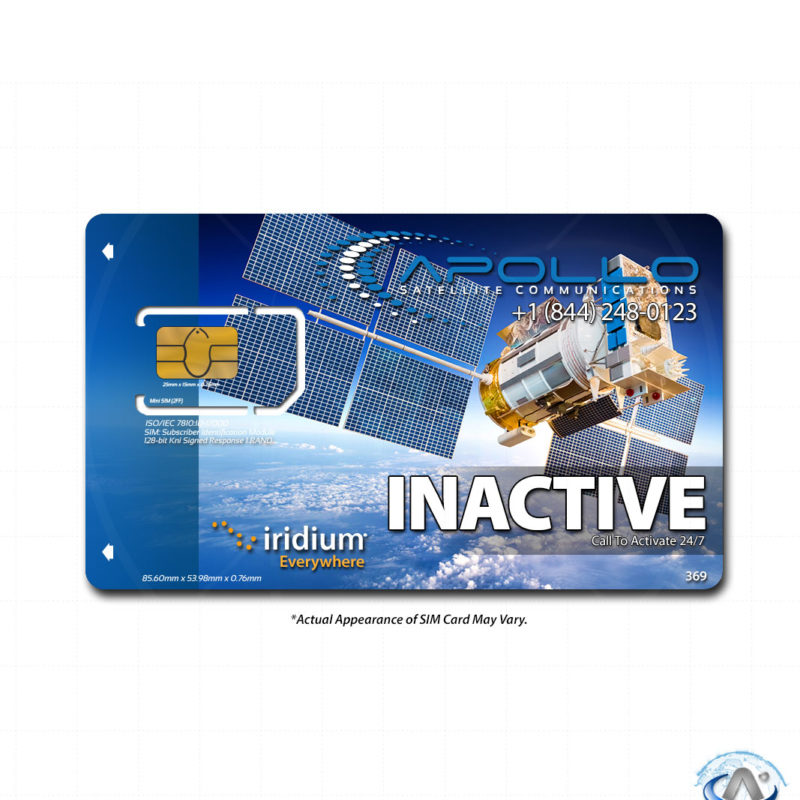 Iridium Prepaid SIM Card - Product Feature
