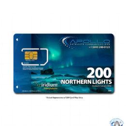 Northern Lights Iridium SIM Card