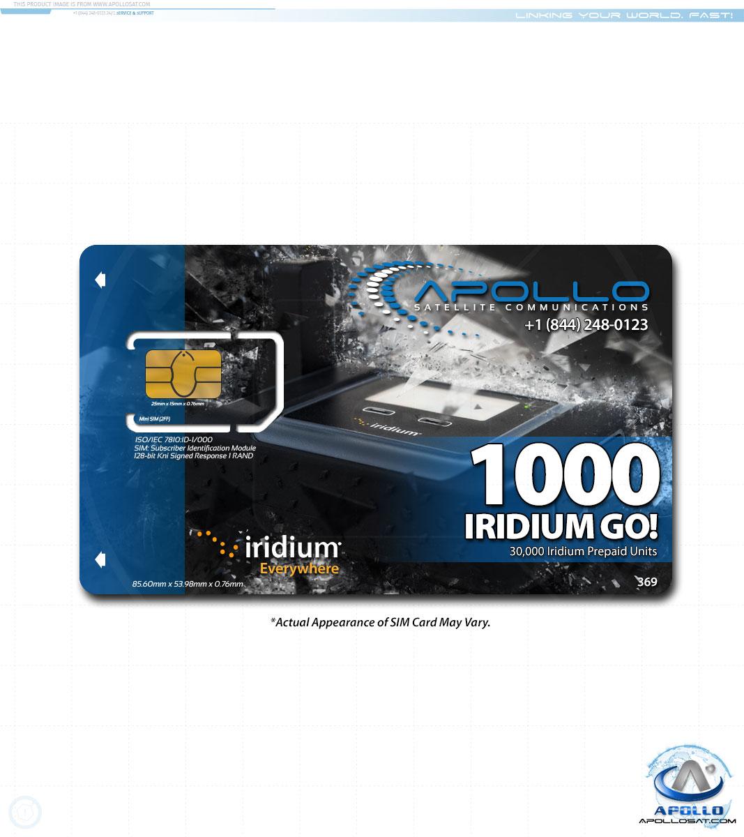 Iridium GO 1000 Prepaid Service