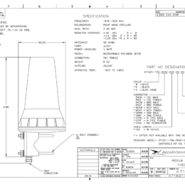 Iridium Fixed Mast Antenna Spec Sheet