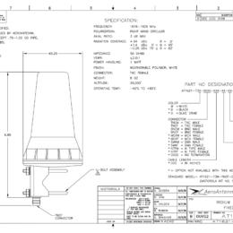 Iridium Fixed Mast Antenna Spec Sheet