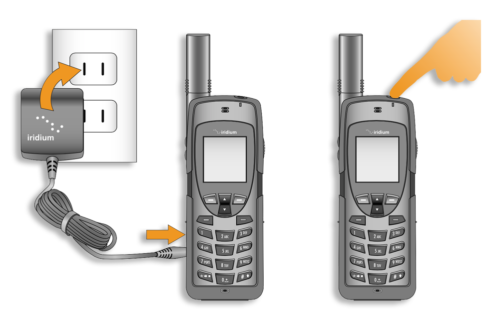 Iridium 9555 Quick Start Guide - Charging Overview