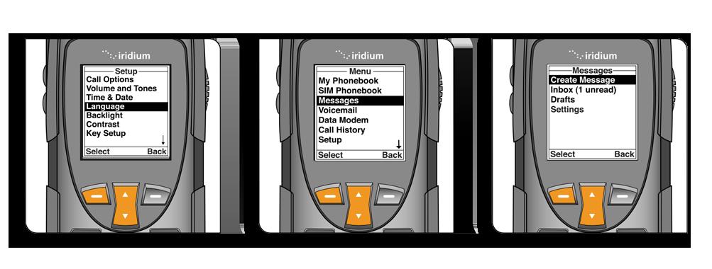 Iridium 9555 Quick Start Guide - Sending a Text