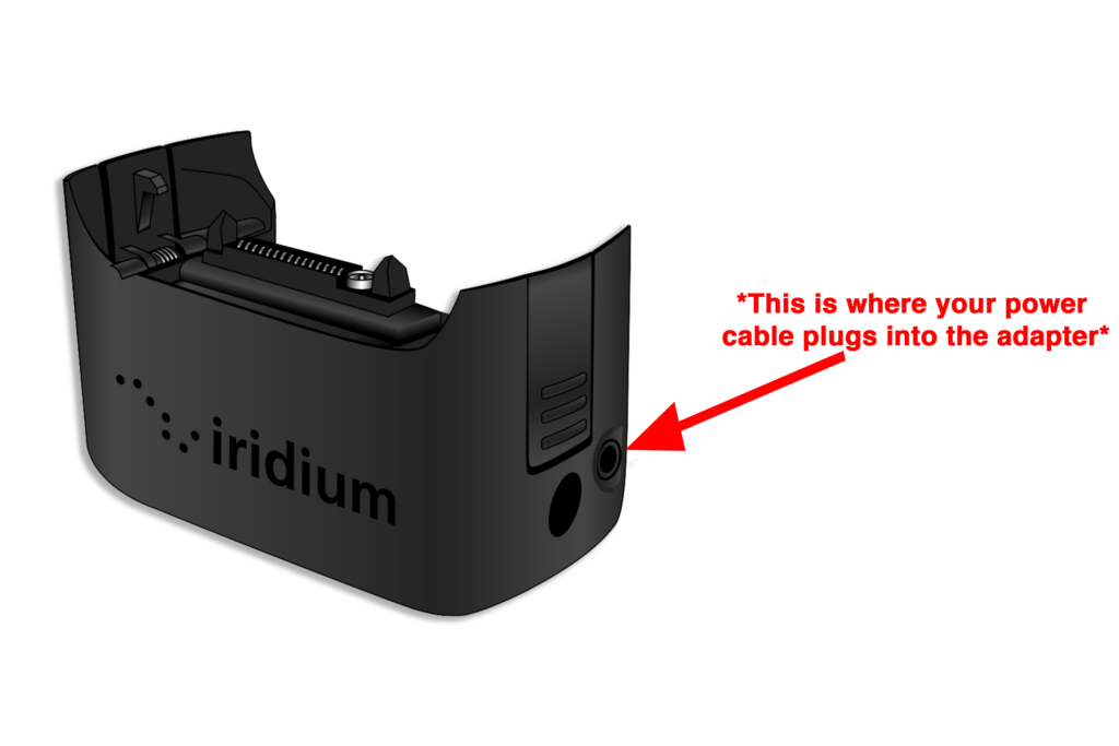 Iridium Extreme Quick Start Guide - Power Adapter Plug Installation