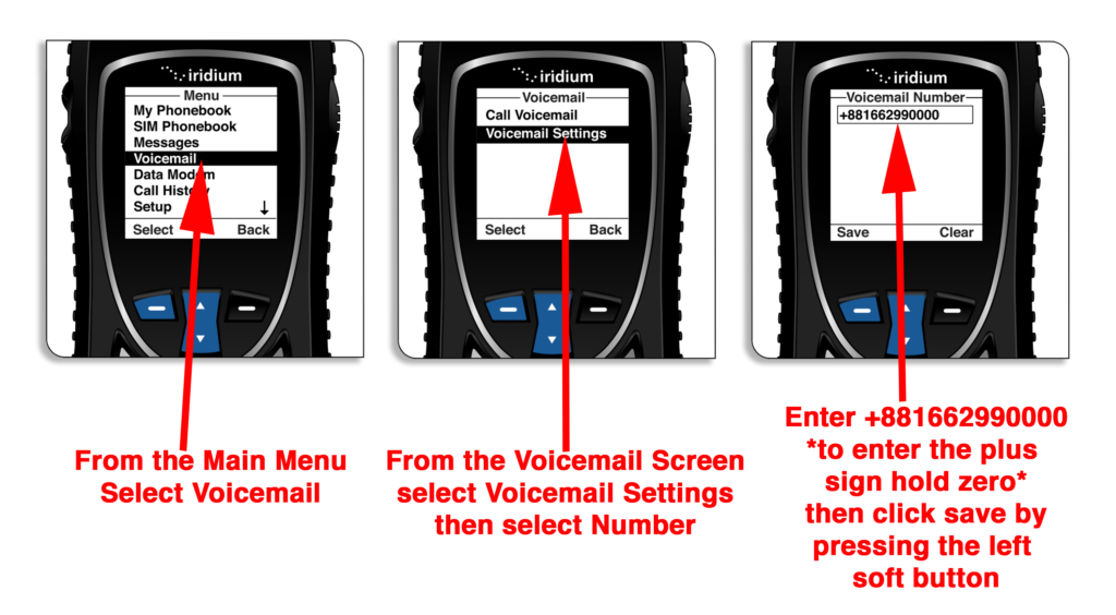Iridium Extreme Quick Start Guide - Voicemail Explanation