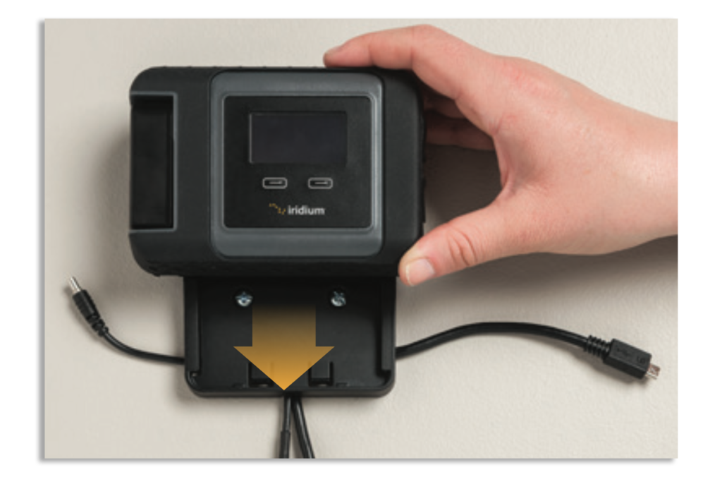 Iridium GO! Wall Mounting Instruction Guide - Mount Device