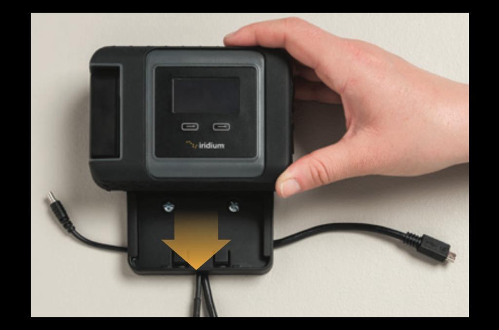 Iridium GO! Wall Mounting Instruction Guide - Mount Device