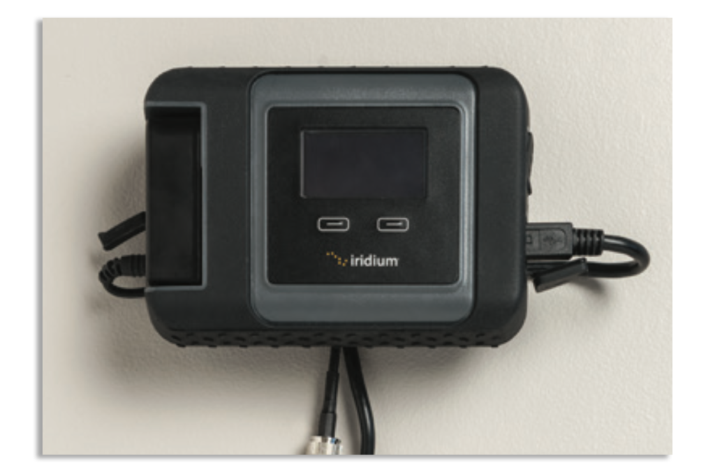 Iridium GO! Wall Mounting Instruction Guide - Open Access Doors and Connect Cables