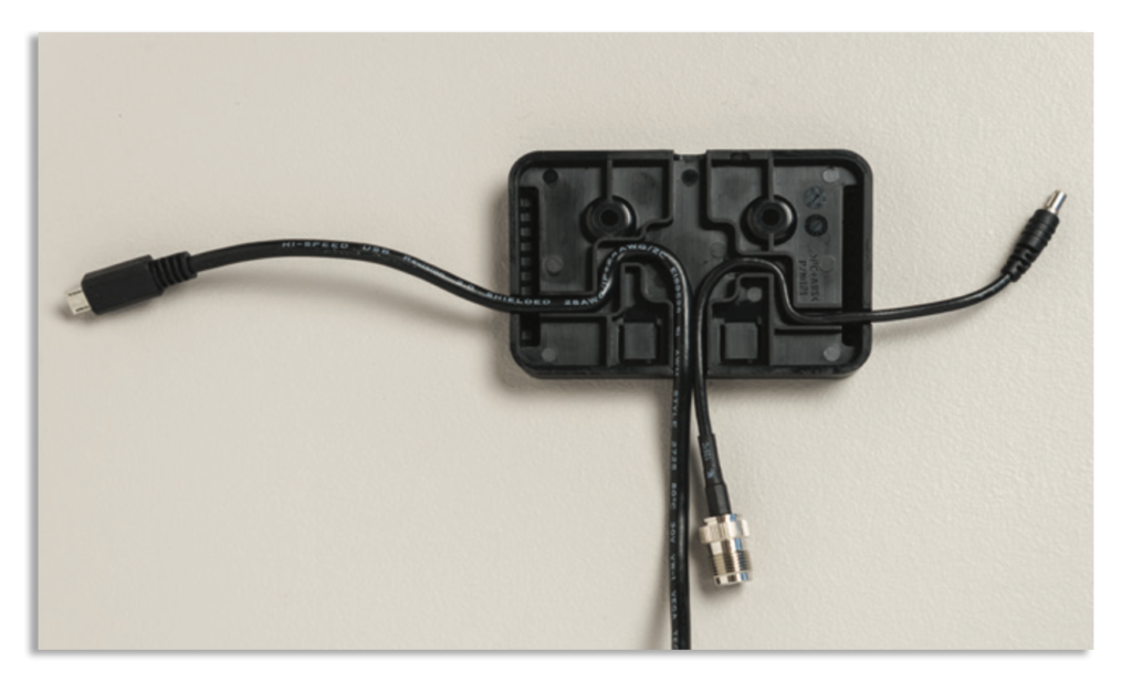 Iridium GO! Wall Mounting Instruction Guide - Cable Routing