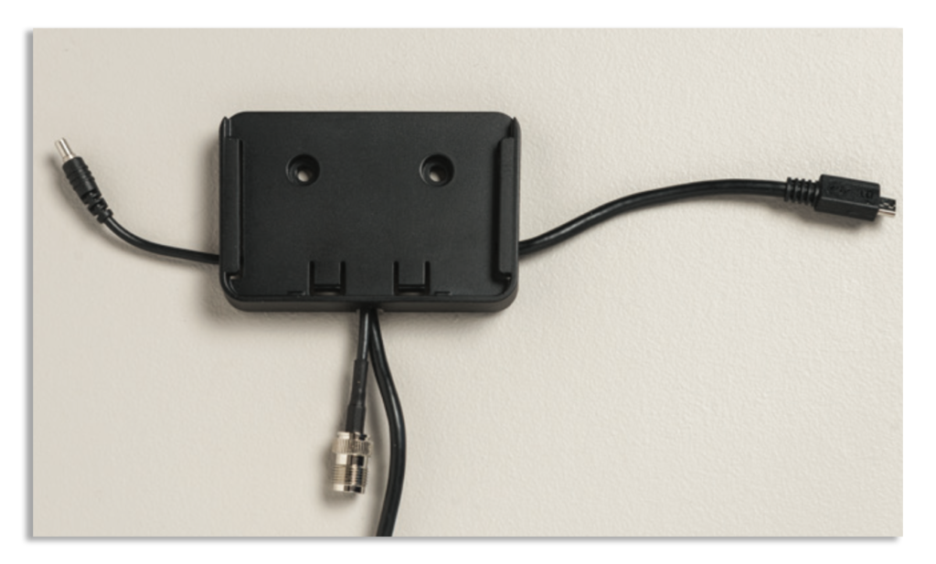 Iridium GO! Wall Mounting Instruction Guide - Cable Routing Completed