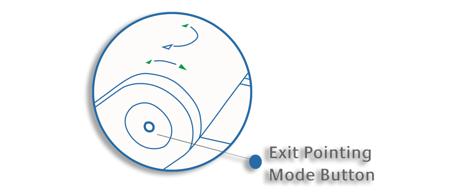 Wideye iSavi Quick Start Guide - Exit Pointing Mode Button