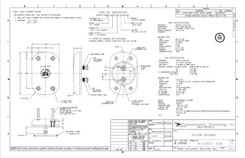 AERO AT2300-326 Aviation Antenna - Blueprint
