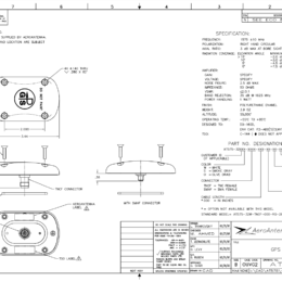 AERO AT575-32 Aviation Antenna - Blueprint