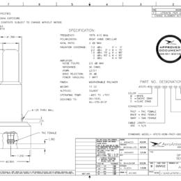 AERO AT575-83 Aviation Antenna - Blueprint