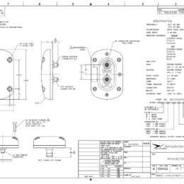 AERO AT1621-262 Iridium Antenna - Blueprint