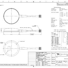 AERO AT1621-112 Iridium Antenna - Blueprint