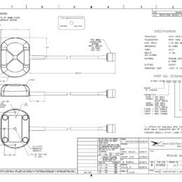 AERO AT1621-204 Iridium Antenna - Blueprint