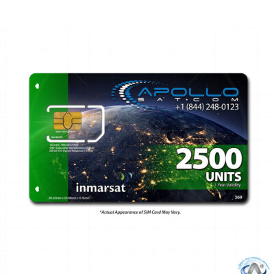 IsatPhone 2500 Unit Inmarsat Prepaid SIM Card