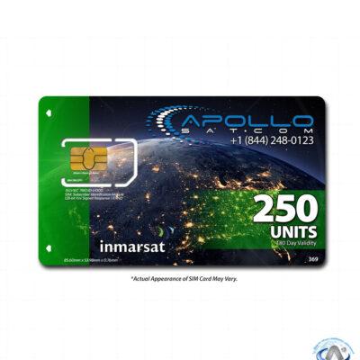 IsatPhone 250 Unit Inmarsat Prepaid SIM Card
