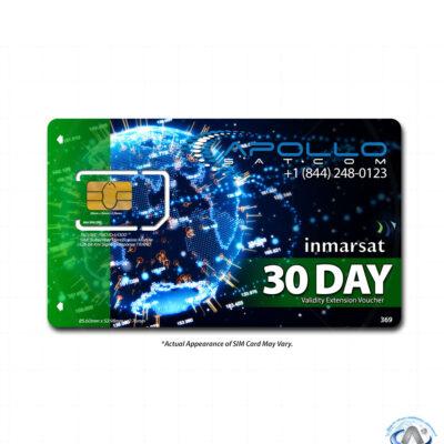 IsatPhone 30 Day Extension Inmarsat Prepaid SIM Card