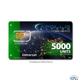 IsatPhone 5000 Unit Inmarsat Prepaid SIM Card