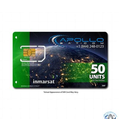 IsatPhone 50 Unit Inmarsat Prepaid SIM Card
