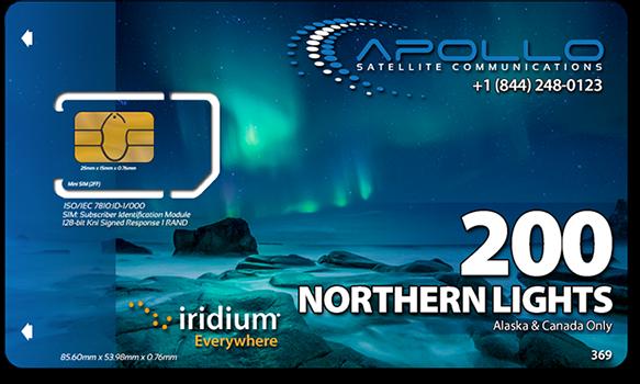 Iridium Northern Lights SIM Card