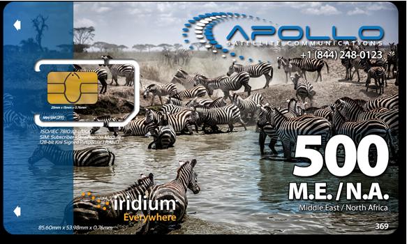 Iridium MENA Prepaid SIM Card