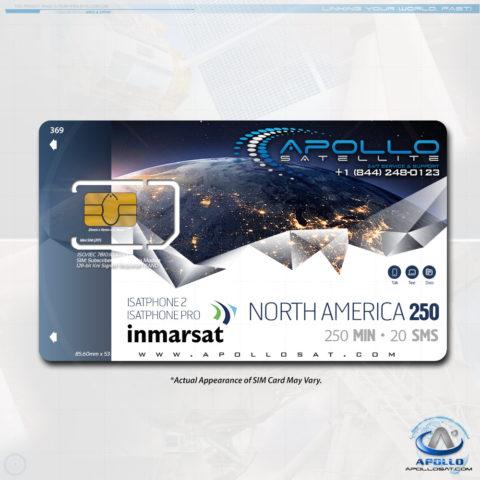 Isatphone North America 250 Monthly Plan