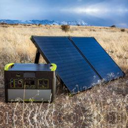 Yeti 1400 Solar Generator Kit with Boulder 100 Briefcase