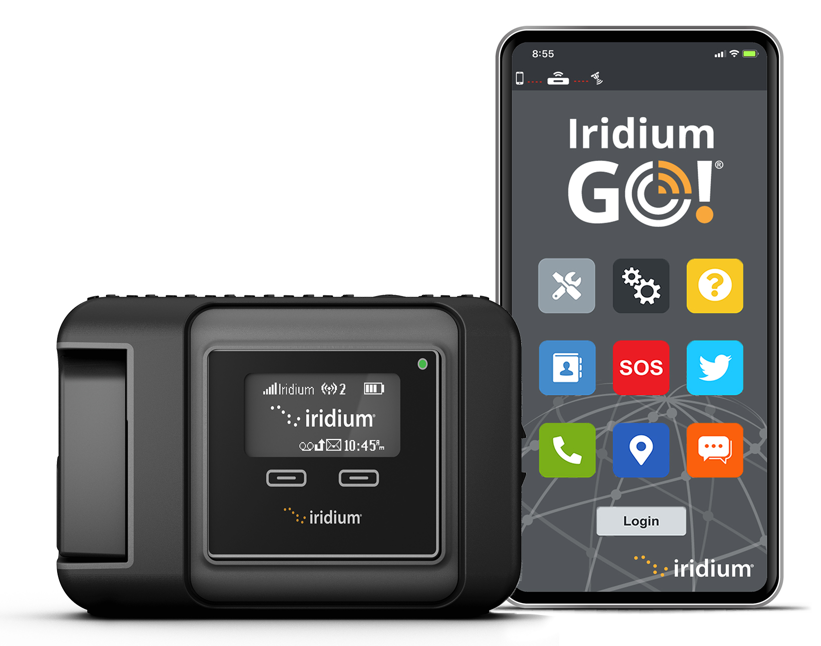 Updated Iridium GO App