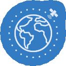 Global Service - Worldwide Service - Apollo Satellite