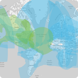 Aura VSAT HTS Coverage Map - Apollo Satellite