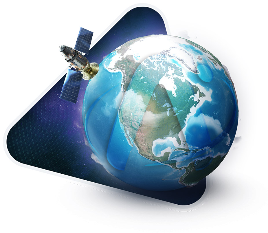 Apollo Satellite Orbiting Planet Earth - Iridium Inmarsat Global Service Provider