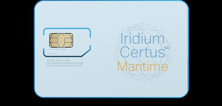 Iridium Certus Maritime Monthly Plans SIM Card - Apollo Satellite