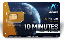 Iridium Monthly Plans 10 Monthly Minutes SIM Card - Apollo Satellite