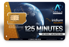 Iridium Monthly Plans 125 Monthly Minutes SIM Card - Apollo Satellite