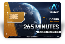 Iridium Monthly Plans 265 Monthly Minutes SIM Card - Apollo Satellite