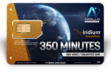 Iridium Monthly Plans 350 Monthly Minutes SIM Card - Apollo Satellite