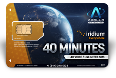 Iridium Monthly Plans 40 Monthly Minutes SIM Card - Apollo Satellite