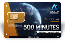 Iridium Monthly Plans 500 Monthly Minutes SIM Card - Apollo Satellite