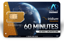 Iridium Monthly Plans 60 Monthly Minutes SIM Card - Apollo Satellite